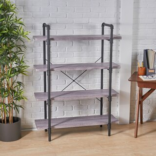 Anders Faux Wood 4 Tier Etagere Bookcase by Williston Forge SKU:EC799574 Check Price