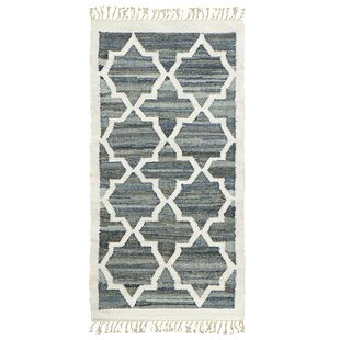 Granada Hand-Woven Blue/White Area Rug by Jute&Co