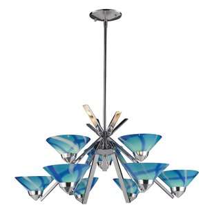 Latitude Run Klingbeil 9-Light Shaded Chandelier