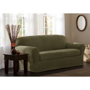 Affordable Price Box Cushion Sofa Slipcover by Charlton Home Reviews (2019) & Buyer's Guide