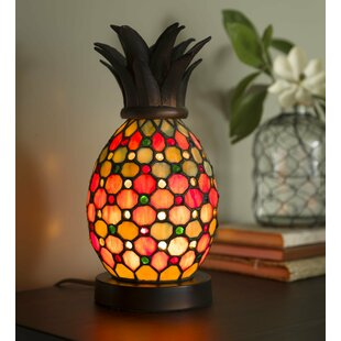 Pineapple Stained Glass Table Lamp by Plow & Hearth