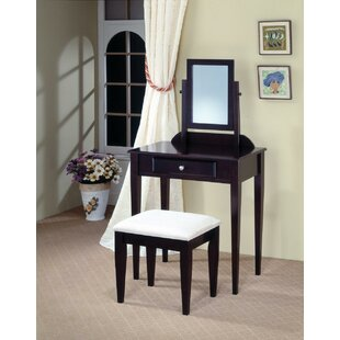Gross Contemporary Vanity Set with Mirror by Alcott Hill