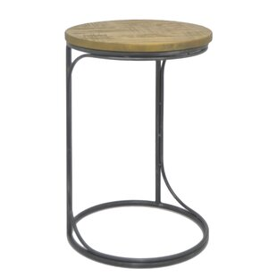 Metal and Wood End Table by Three Hands Co.