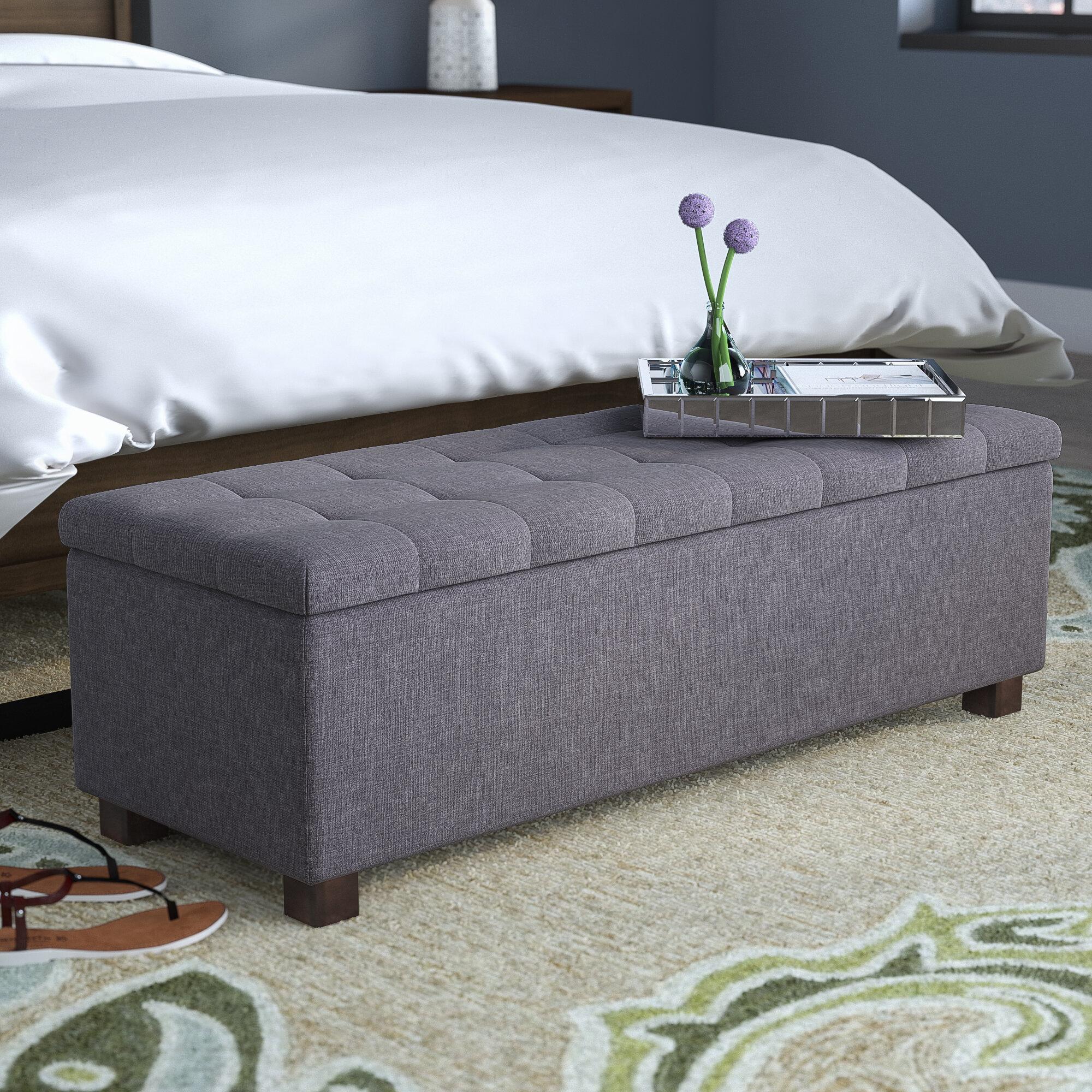Latitude Run Kareem Upholstered Storage Bench Reviews Wayfair