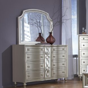 Anette 8 Drawer Double Dresser with Mirror
