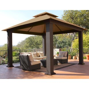 Seville 12 Ft. W x 12 Ft. D Metal Patio Gazebo by Paragon-Outdoor