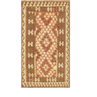 Reviews One-of-a-Kind Doorfield Hand-Knotted 3'4 x 6'3 Wool Brown/Yellow Area Rug By Isabelline
