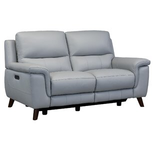Yosef Leather Reclining Loveseat