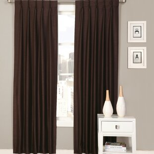 Palace Solid Semi Sheer Pinch Pleat Curtain Panels Set Of 2