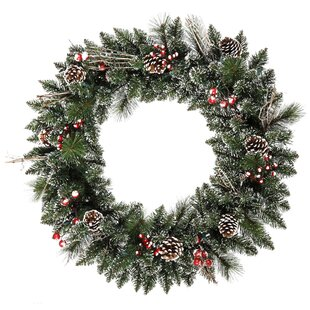 Snow Tipped 76cm Berry Wreath By The Seasonal Aisle