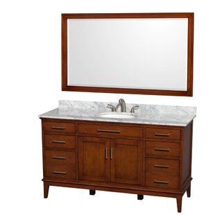 Hatton 60 Single Bathroom Vanity Set with Mirror by Wyndham Collection