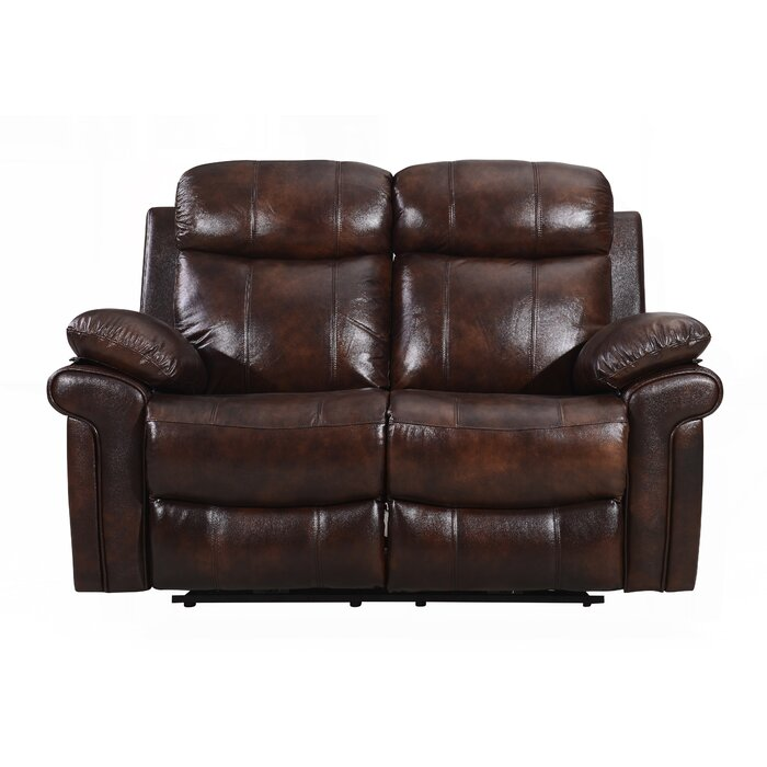 Outstanding Asbury Leather Reclining Loveseat Pabps2019 Chair Design Images Pabps2019Com