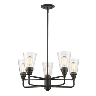 Laurel Foundry Modern Farmhouse Clayton 5-Light Semi Flush Mount