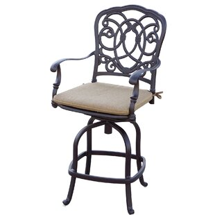 Dolby Patio Counter Height Swivel Bar Stool with Cushion (Set of 6) (Set of 6)
