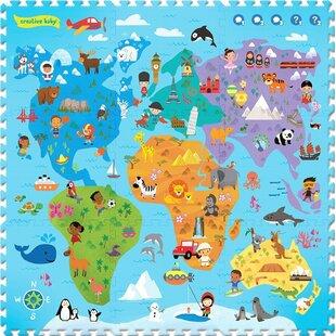 Price comparison Interactive Playmat i-Mat Around the World 9 Piece Floor Mat ByCreative Baby