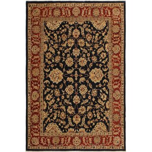 Great Price One-of-a-Kind Dorn Hand-Knotted 8'9 x 11'2 Wool Black/Beige Area Rug By Isabelline