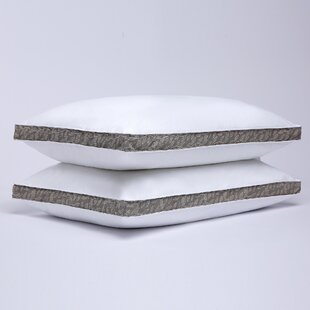 Avery Printed Gusset Medium Down and Feathers Pillow