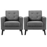 Grund 29.5 W Tufted Armchair (Set of 2) by Corrigan Studio®