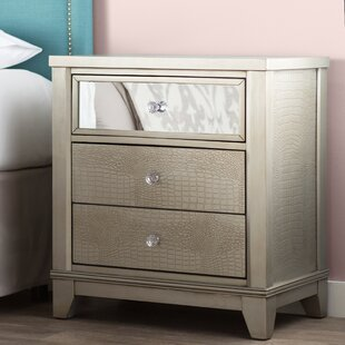 Rogers 3 Drawer Wood Nightstand