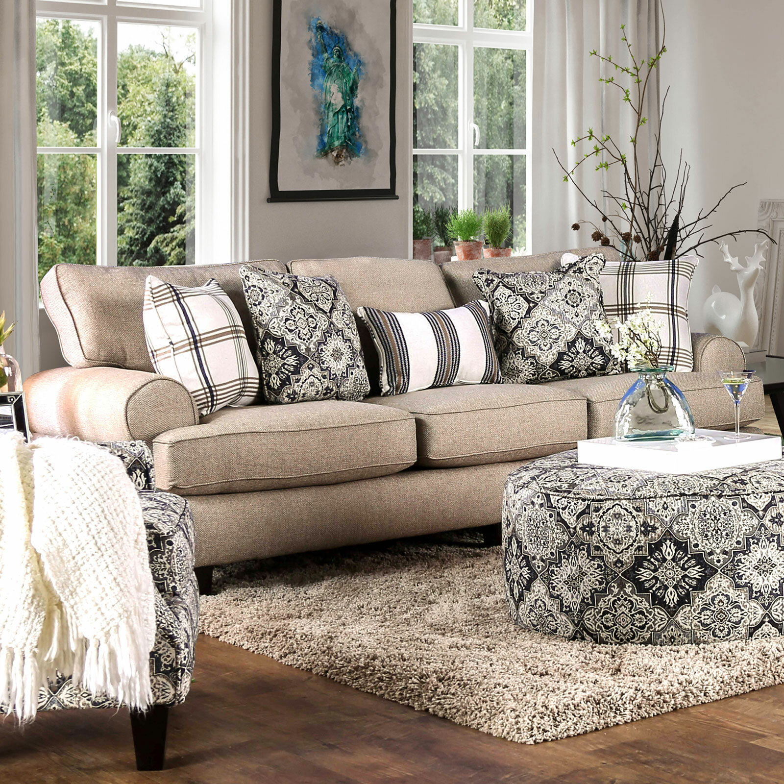 Darby Home Co Harney 88 Rolled Arm Sofa Wayfair