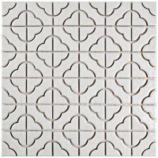 Castle Random Sized Porcelain Mosaic Tile in White