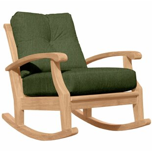 Douglas Nance Cayman Teak Rocking Chair with Cushions