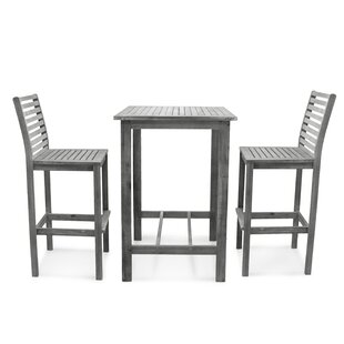 Renaissance 3 Piece Bar Height Dining Set