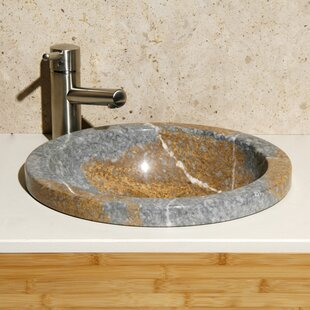 Compare prices Stone Circular Drop-In Bathroom Sink By Allstone Group