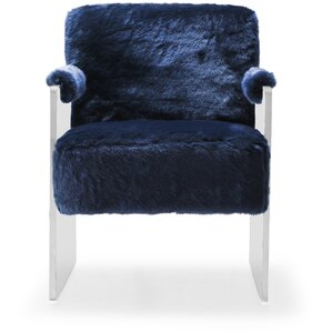 Pamella Fur Armchair by Everly Quinn