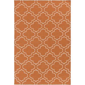 York Sara Orange Area Rug