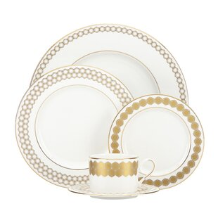 Prismatic 5 Piece Bone China Place Setting Service for 1  sc 1 st  Wayfair & Elegant China Dinnerware Sets | Wayfair