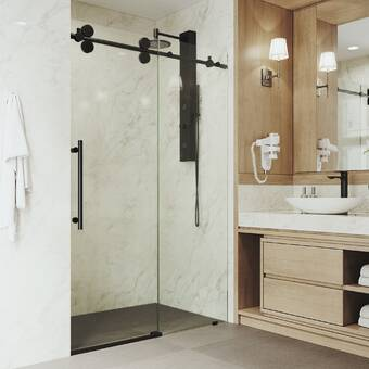 Dreamline Unidoor Lux 56 W X 72 H Hinged Frameless Shower Door With Clearmax Technology Wayfair
