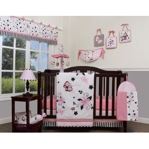New Butterfly 13 Piece Crib Bedding Set