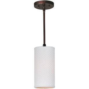 Denning 1-Light Cylinder Pendant by Bayou Breeze