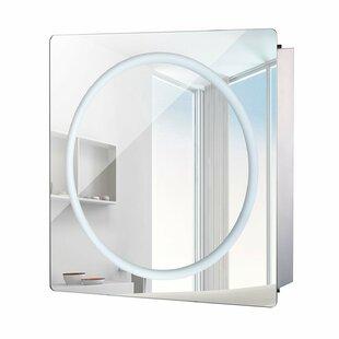 "Savings Byrd 23.75 x 27.5"" Surface Mount Medicine Cabinet with LED Lighting ByOrren Ellis"