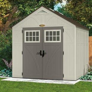 Suncast Tremont 8 ft. 5 in. W x 7 ft. 2 in. D Plastic Storage Shed