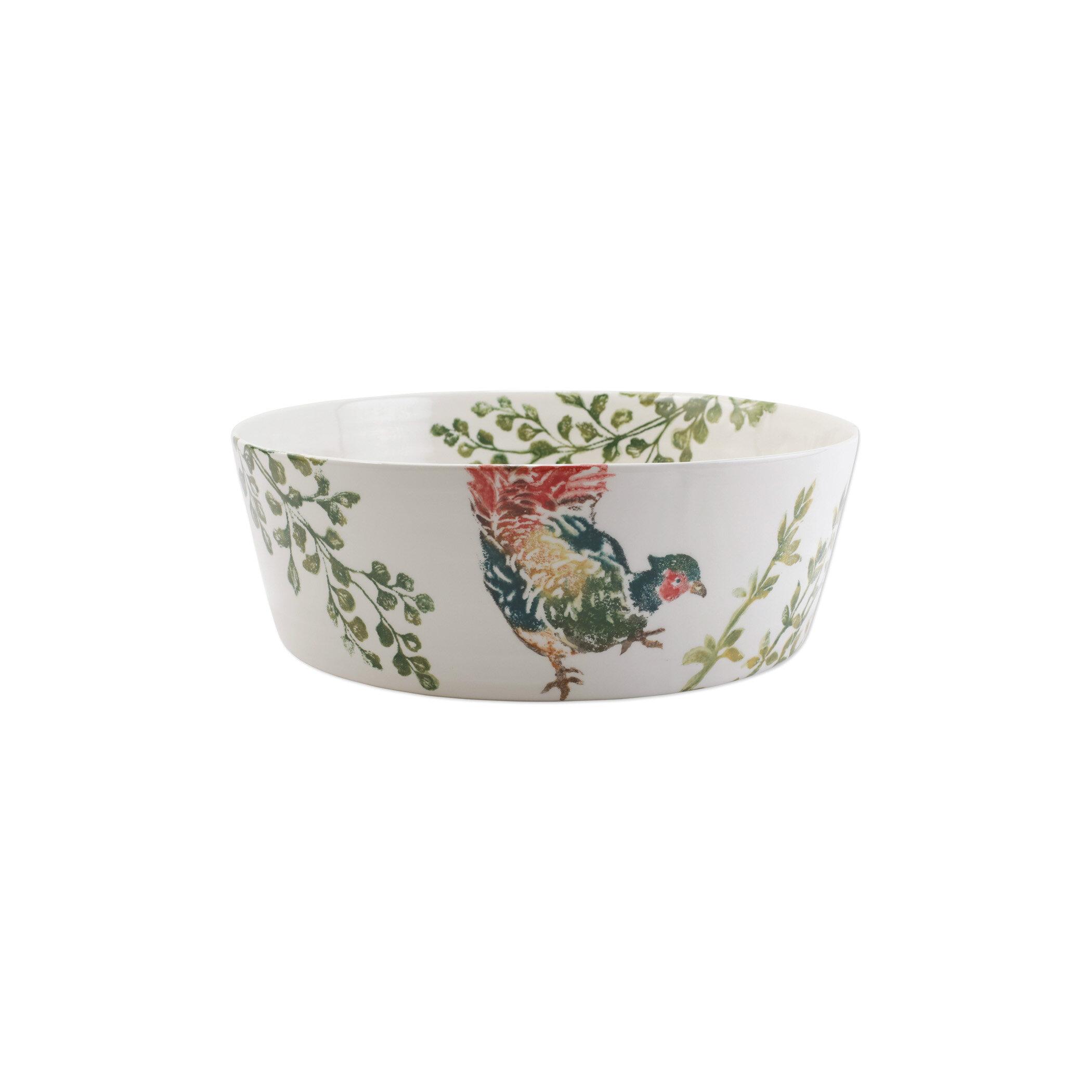 Vietri Fauna Pheasants 240 Fl Oz Serving Bowl Perigold