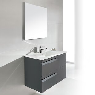 Top Reviews Vitale 24 Single Bathroom Vanity Set with Mirror By Dawn USA