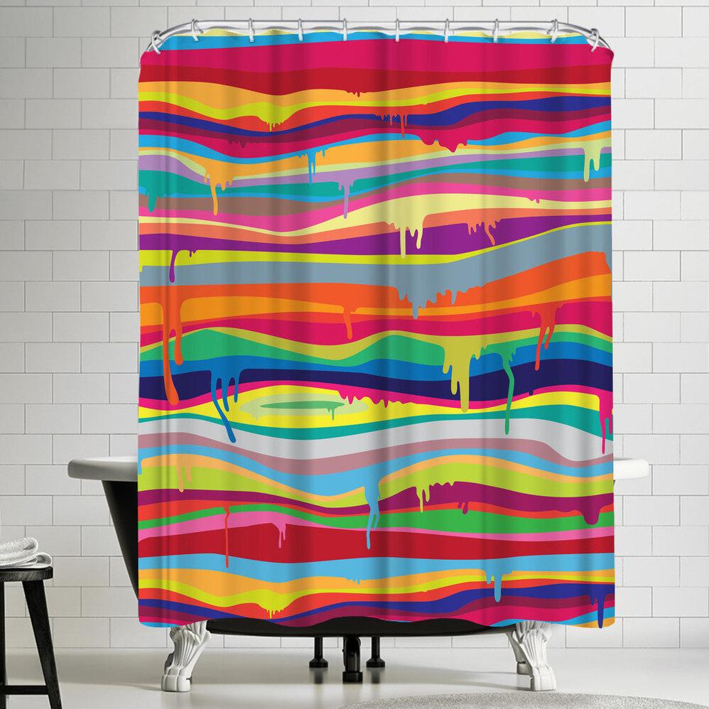 East Urban Home Joe Van Wetering The Melting Single Shower Curtain Wayfair