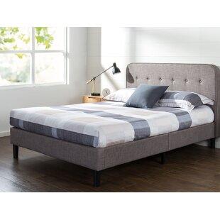 Wrought Studio Bierman Curved Upholstered Platform Bed