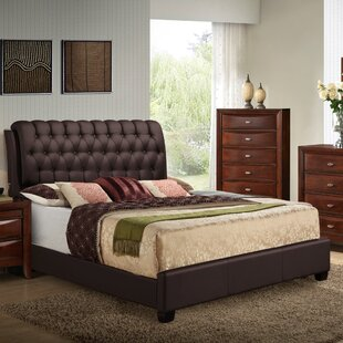 Iron Upholstered Panel Bed by Alcott Hill