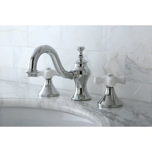 Kingston Brass Vintage Widespread Lavatory Bathroom Faucet with Brass Pop-Up