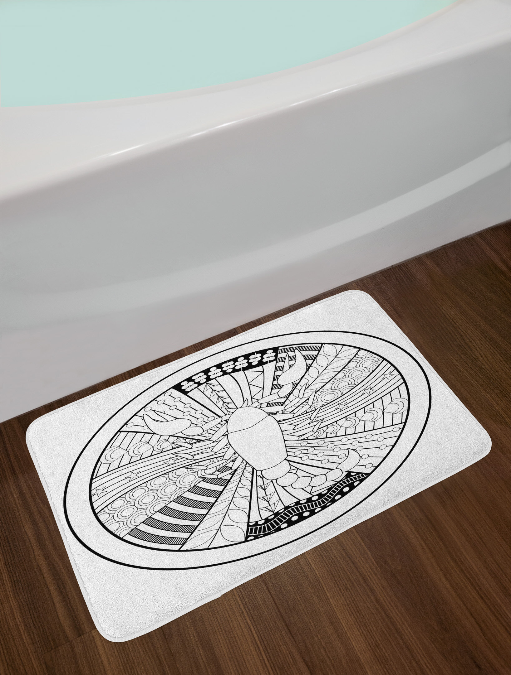 East Urban Home Hand Drawn Style Zodiac Scorpio Bath Rug | Wayfair