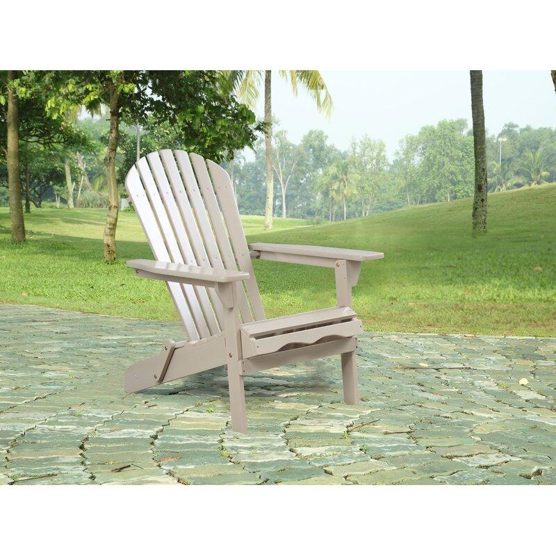 Rosecliff Heights Hammitt Solid Wood Folding Adirondack Chair Wayfair