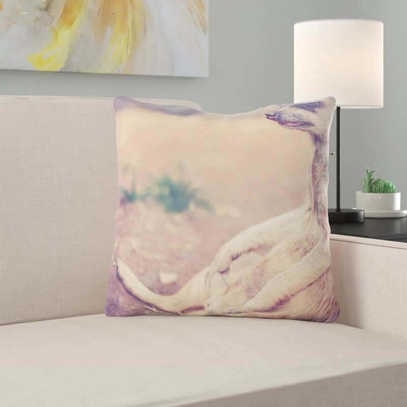 East Urban Home Meerkat Throw Pillow Wayfair