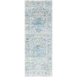 Parramore Oriental Pale Blue Area Rug by Bungalow Rose