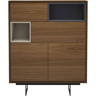 Comm Office Vasilisa Highboard China Cabinet Color: Walnut