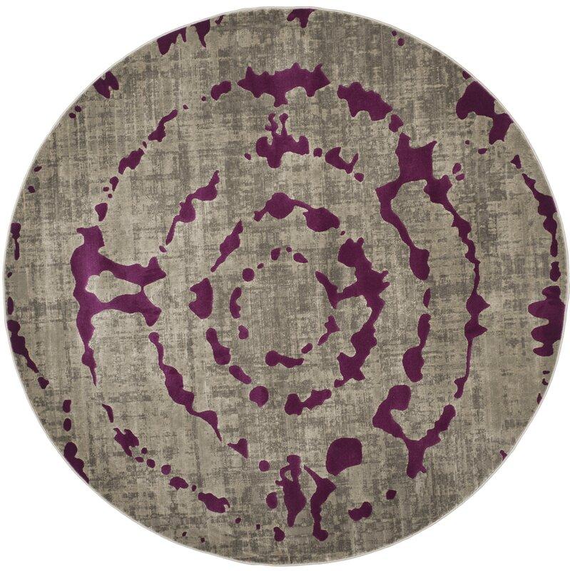 Varnai Light Gray/Purple Area Rug