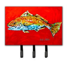 Red Fish Red Head Leash Holder and Key Holder by Caroline's Treasures