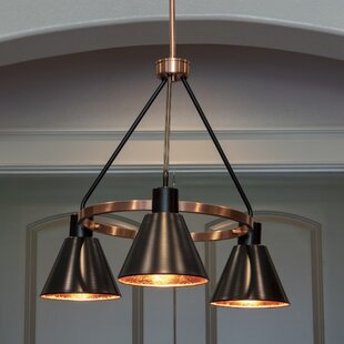 Wilmslow 3-Light Shaded Chandelier by Williston Forge